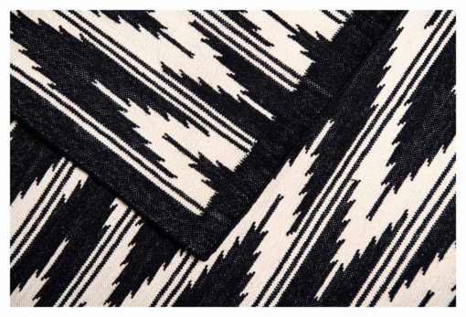 IKAT - CHARCOAL BLACK & WHITE Closeup