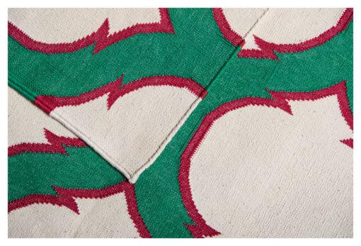 HAWA MAHAL - EMERALD GREEN & BLUSH PINK Closeup