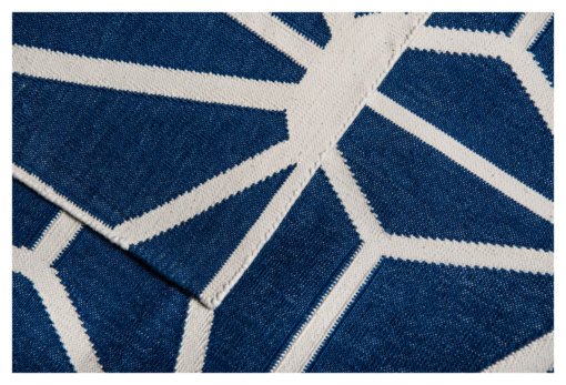 JAIPUR JALI - LONDON BLUE & WHITE Closeup