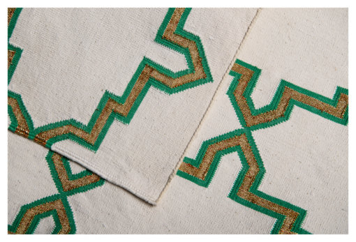 MOROCCAN STAR - EMERALD GREEN & GOLD BLING Closeup