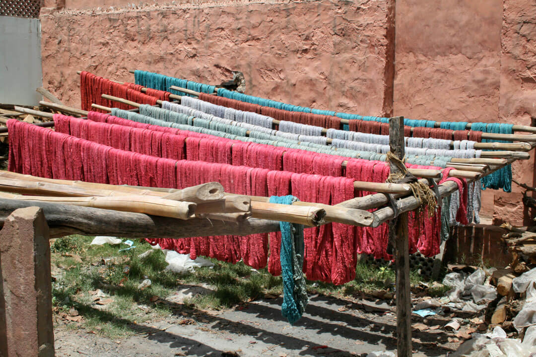 Drying the Dyed Yarn