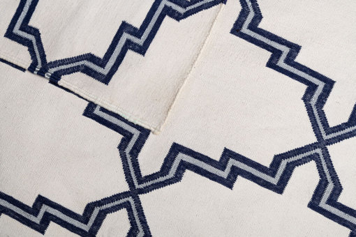 MOROCCAN STAR - CLASSIC NAVY & SILVER BLING Closeup