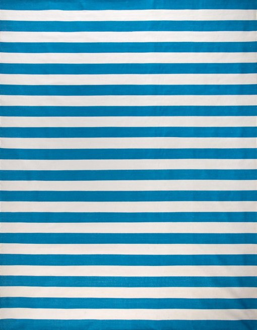 CARNIVAL STRIPES - VINTAGE BLUE & OFF WHITE Featured