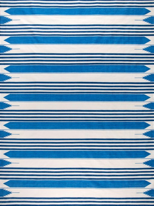 HERITAGE STRIPES - HAMPTONS BLUES & OFF WHITE Featured
